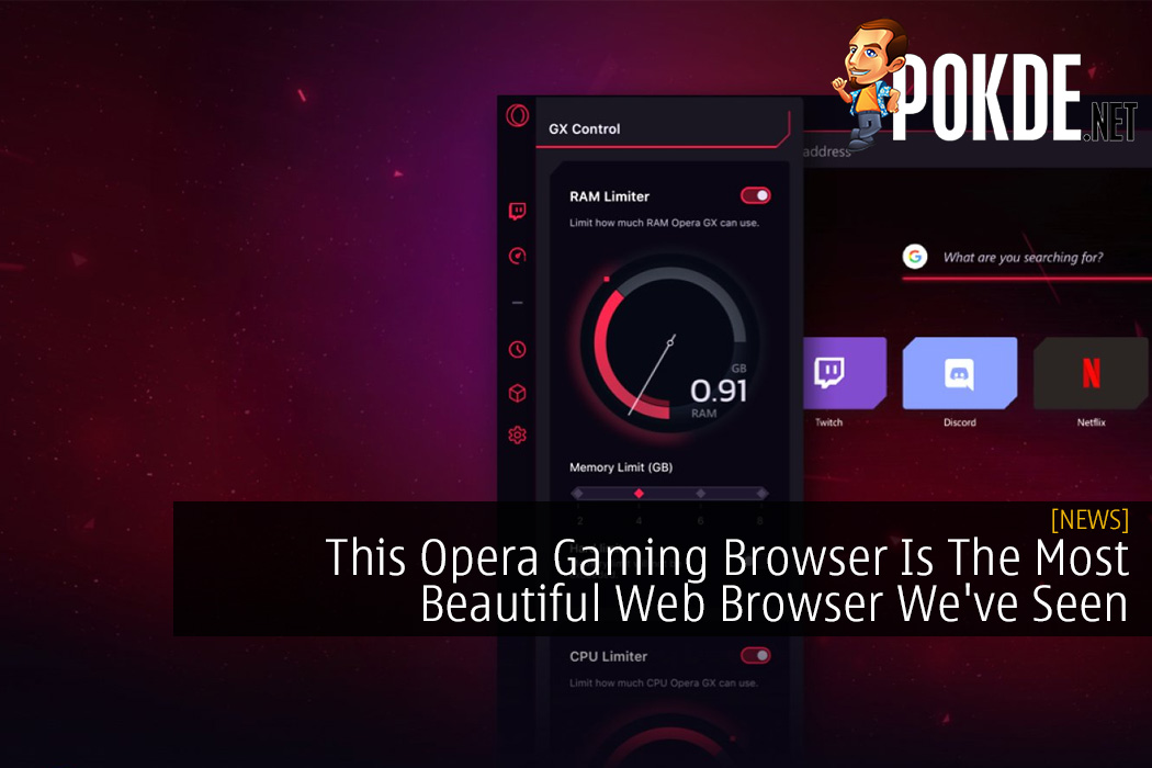This Opera Gaming Browser Is The Most Beautiful Web Browser We've Seen