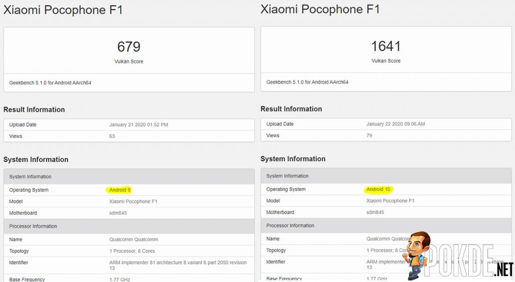 POCOPHONE F1's Android 10 update reportedly doubles GPU performance 22