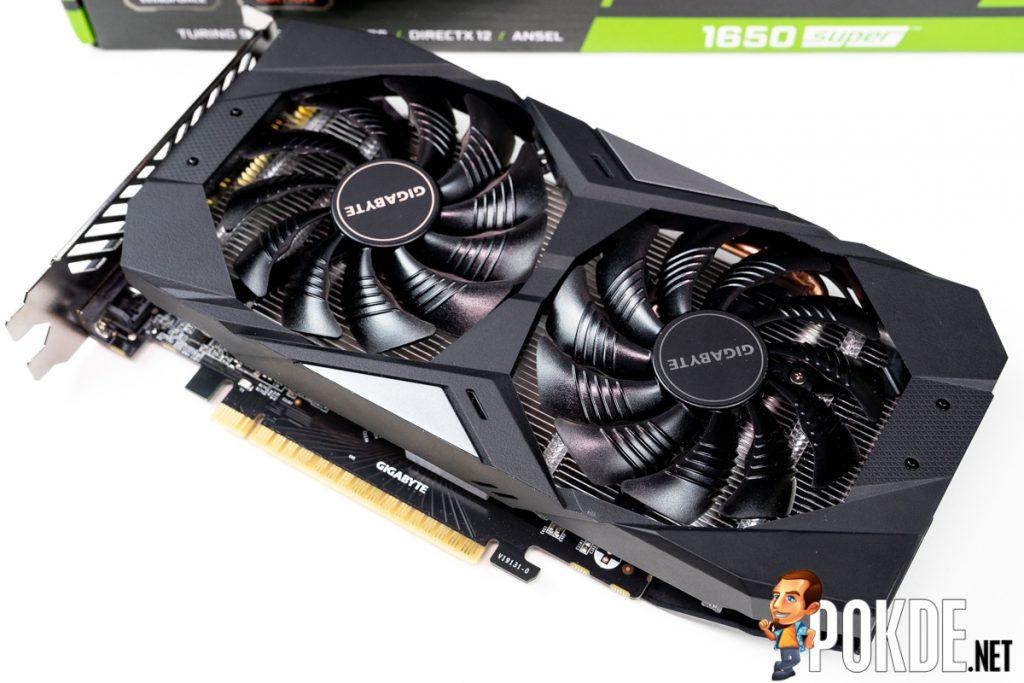 GIGABYTE GeForce GTX 1650 SUPER WINDFORCE OC fans