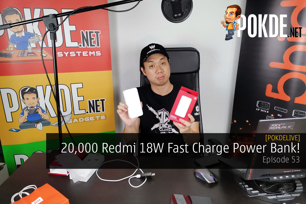 PokdeLIVE 53 — 20,000 Redmi 18W Fast Charge Power Bank! 24