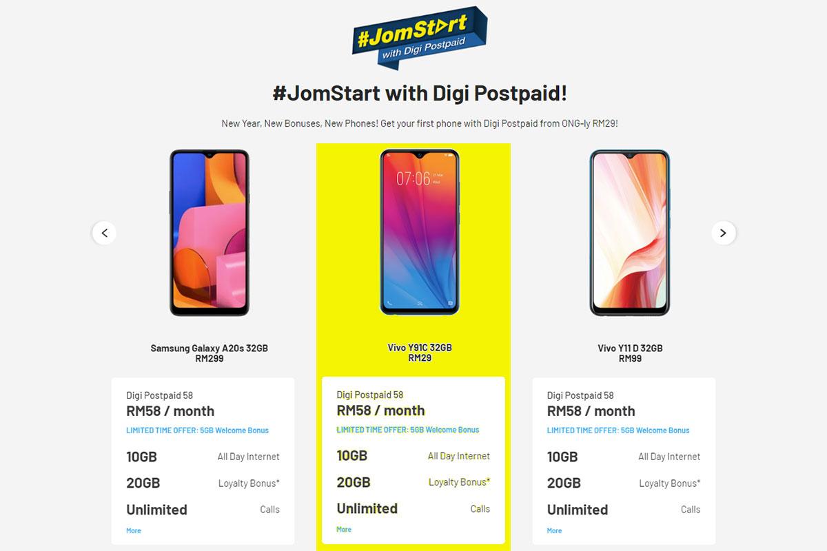 digi 2020 awesome deals jomstart rm29 phone