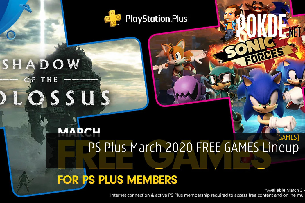 PS Plus March 2020 FREE GAMES Lineup for US & EU Regions