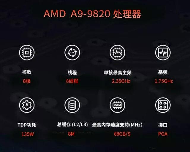 amd a9 9820 specs