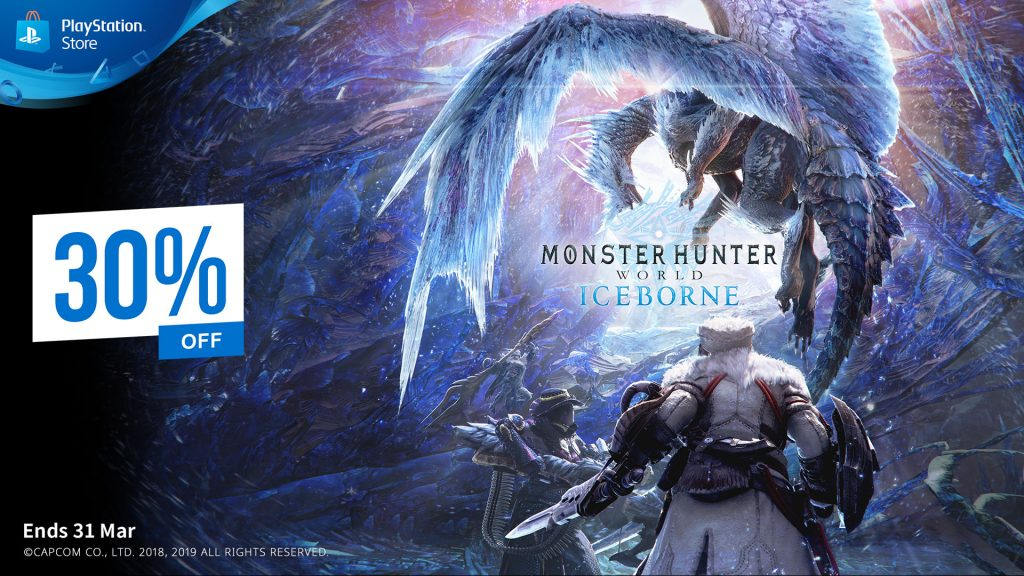 Monster Hunter World Iceborn PS Plus Discount