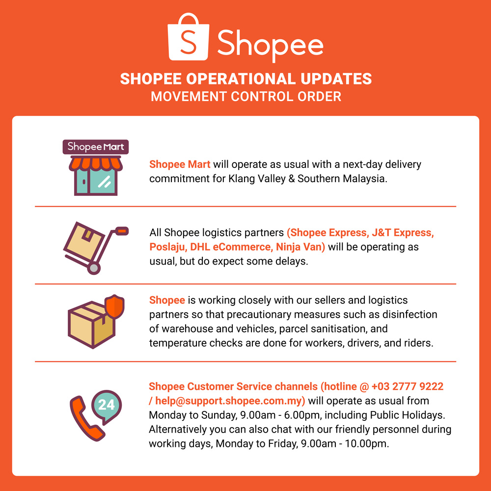 Shopee Malaysia To Operate As Usual Despite Movement Control Order 18