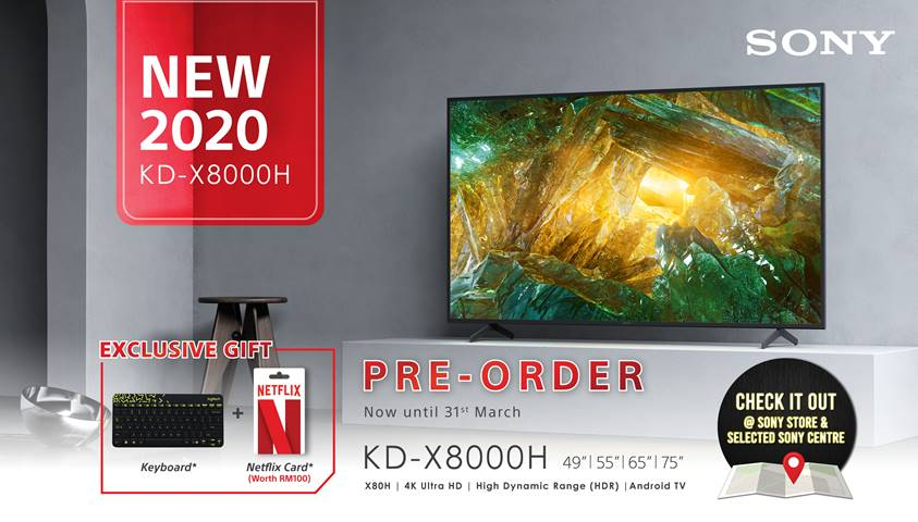 Sony X80H 4K Ultra HD LED TV Is Now Up for Pre-Order with Free Gifts 27