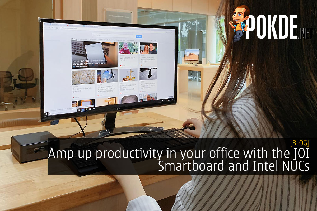 Amp up productivity in your office with the JOI Smartboard and Intel NUCs 6