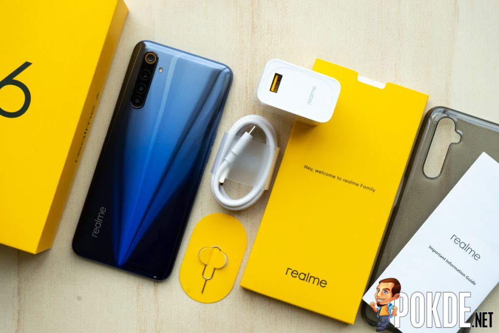 realme 6 package contents