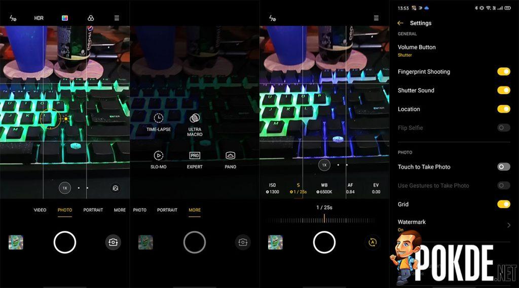 realme c3 camera ui
