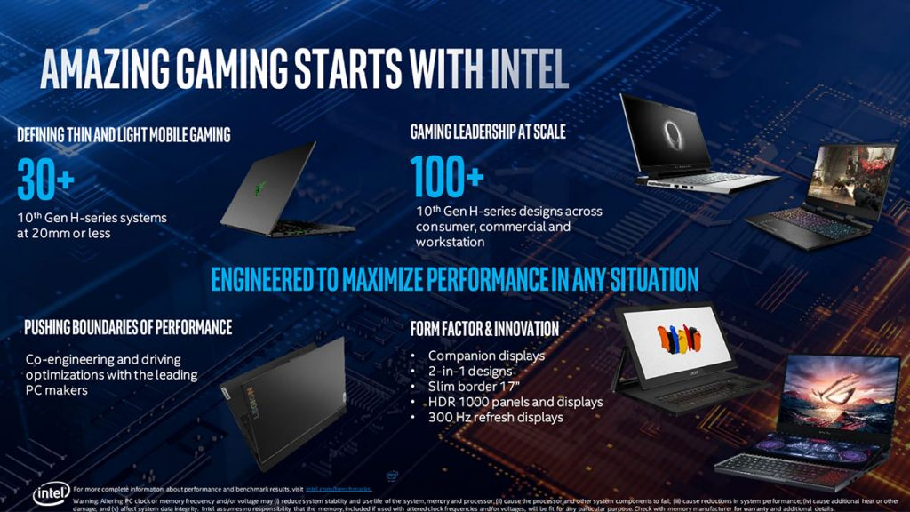 10th Gen Intel Core mobile processors announced with eight cores and 5.3 GHz boost clocks 24