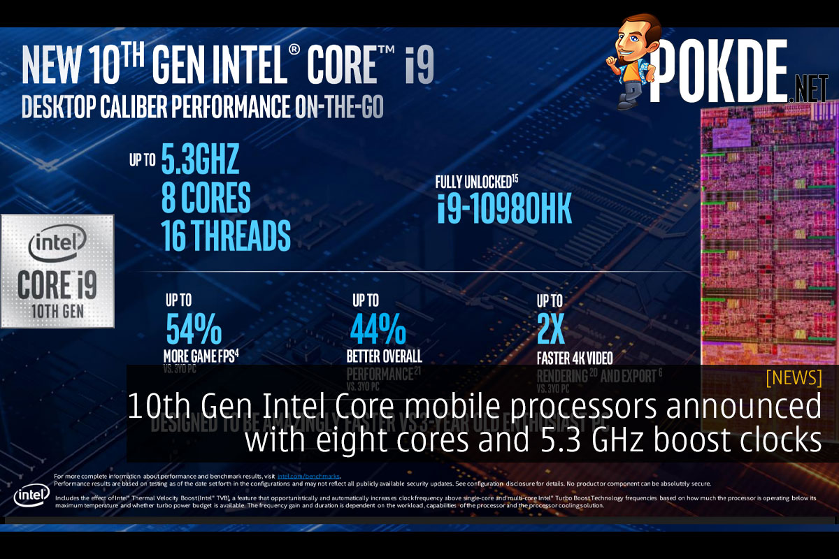 10th Gen Intel Core mobile processors announced with eight cores and 5.3 GHz boost clocks 16