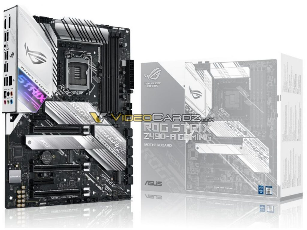 The ASUS ROG Strix Z490 series gets leaked online 24