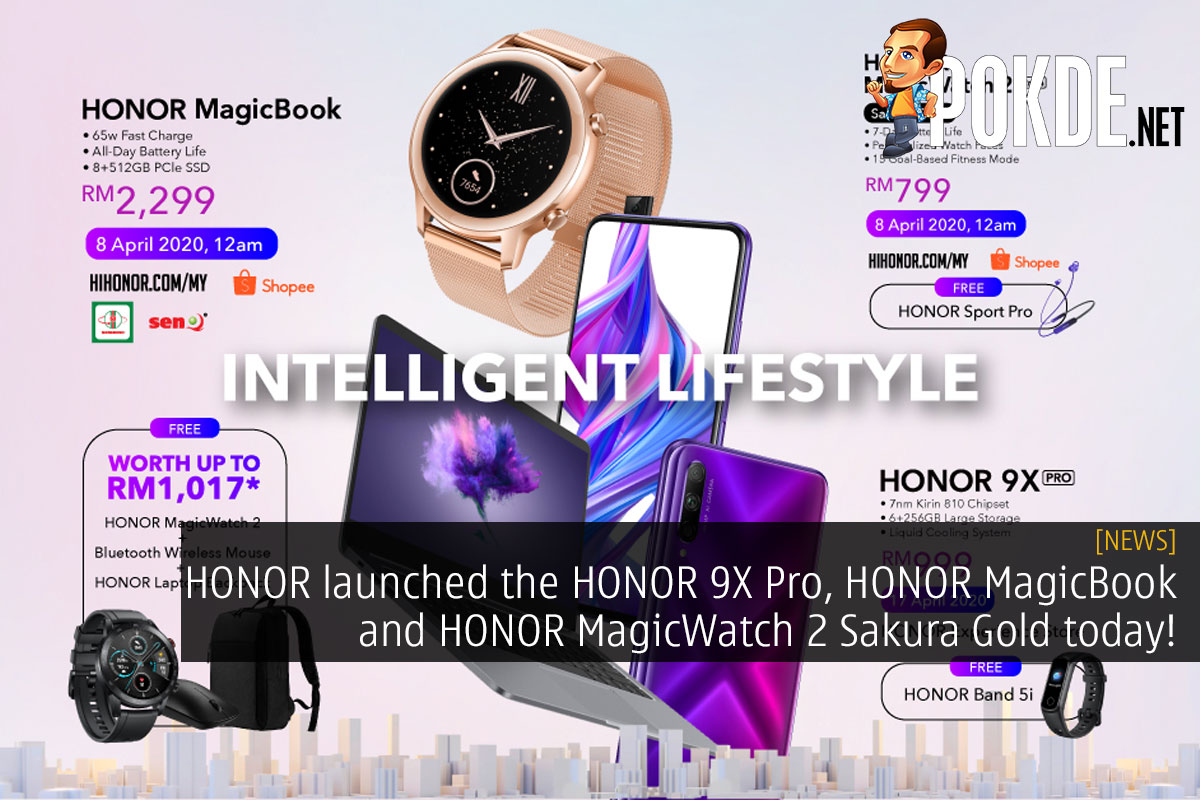 HONOR launched the HONOR 9X Pro, HONOR MagicBook and HONOR MagicWatch 2 Sakura Gold today! 14
