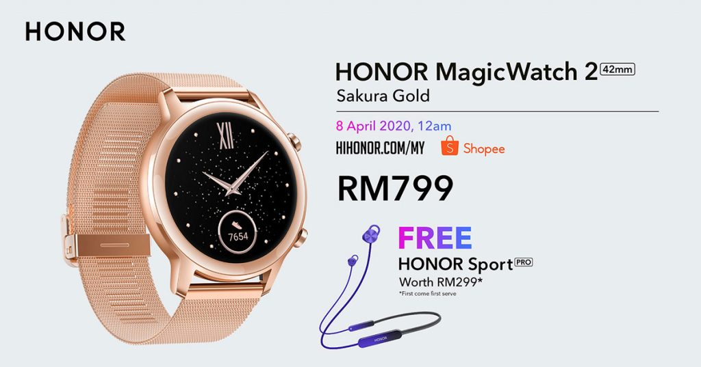 HONOR launched the HONOR 9X Pro, HONOR MagicBook and HONOR MagicWatch 2 Sakura Gold today! 25