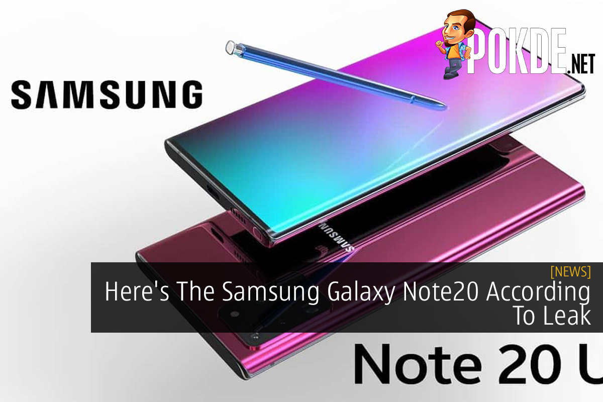 Here's The Samsung Galaxy Note20 According To Leak 20