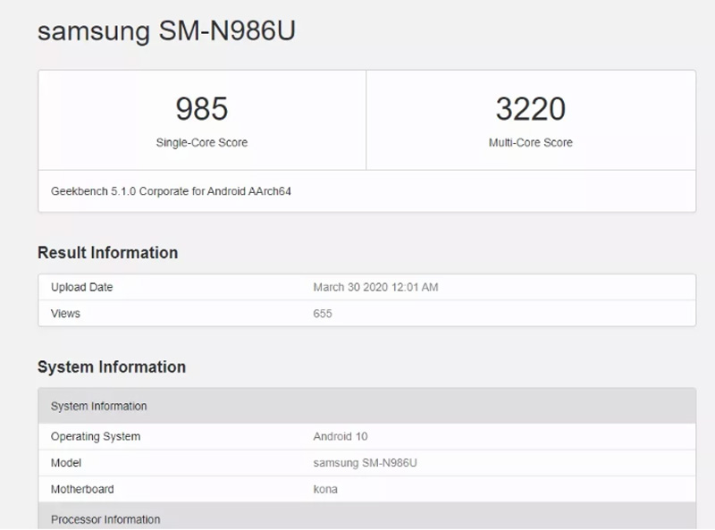 Samsung Galaxy Note20 Plus Could Be The Smartphone To Beat As Leak Shows Benchmark Scores 22