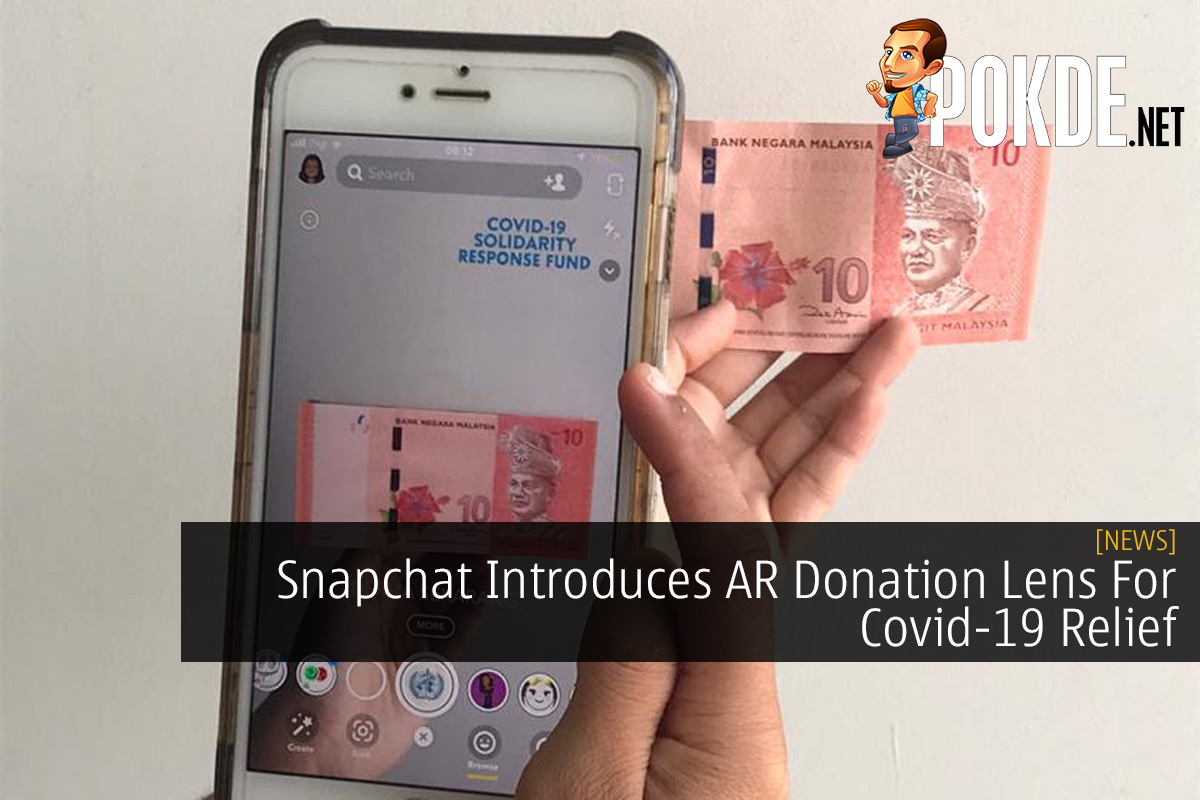Snapchat Introduces AR Donation Lens For Covid-19 Relief 9