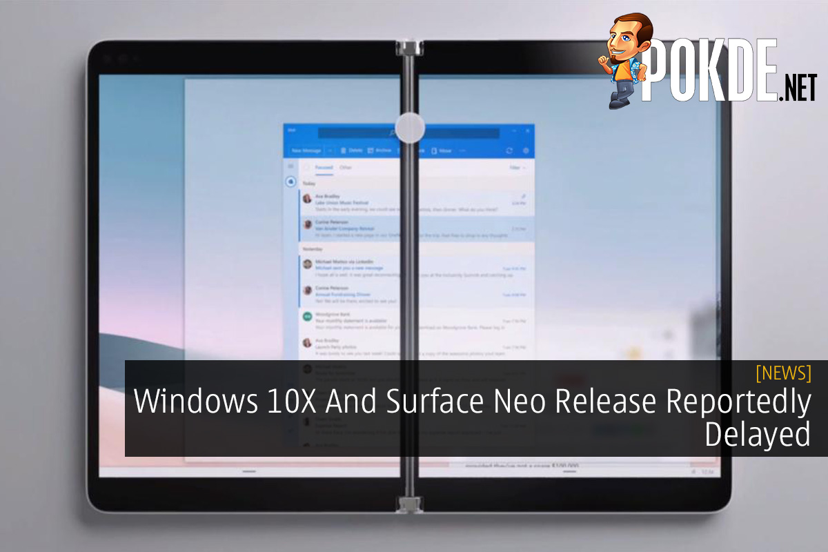 Windows 10X And Surface Neo Release Reportedly Delayed 10