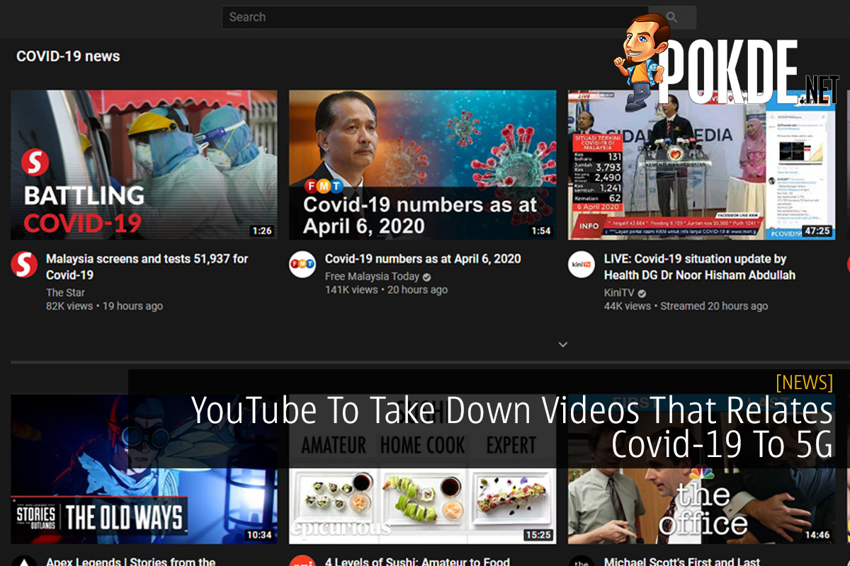 YouTube To Take Down Videos That Relates Covid-19 To 5G 10