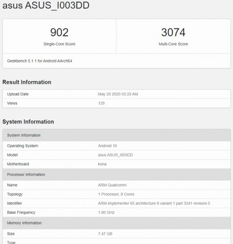ASUS ROG Phone 3 Spotted On Geekbench And Wi-Fi Alliance 20