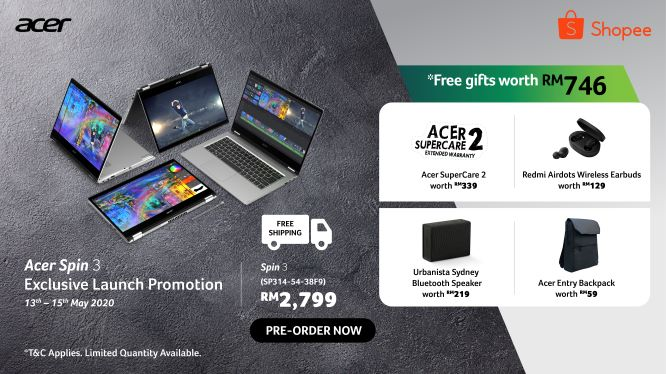 Acer Malaysia Will Be Giving Special Freebies for Acer Spin 3 Pre-Orders 31