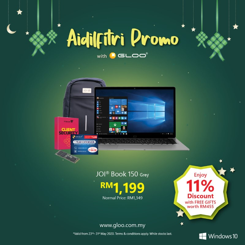 Save up to RM1434 and get more freebies with the latest Modern PC in GLOO's Aidilfitri Promo! 23