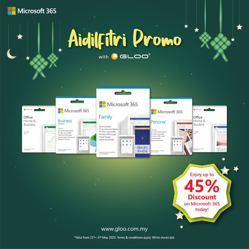 Save up to RM1434 and get more freebies with the latest Modern PC in GLOO's Aidilfitri Promo! 24