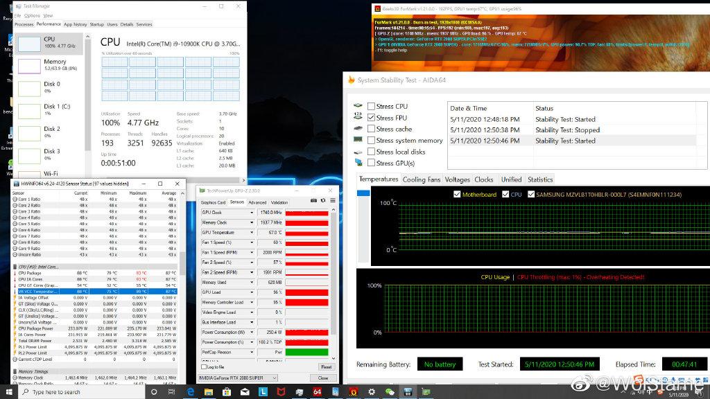Intel Core i9-10900K runs at over 90°C even with a 240mm liquid cooler 27