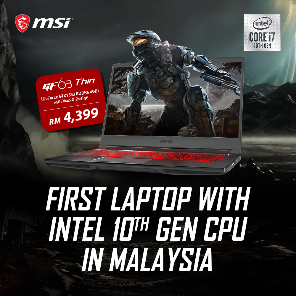 MSI's Latest 10th Gen Laptops Lands In Malaysia 24