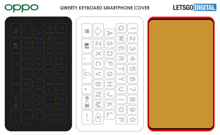 OPPO Files Patent For A Physical QWERTY Keyboard Smartphone 21