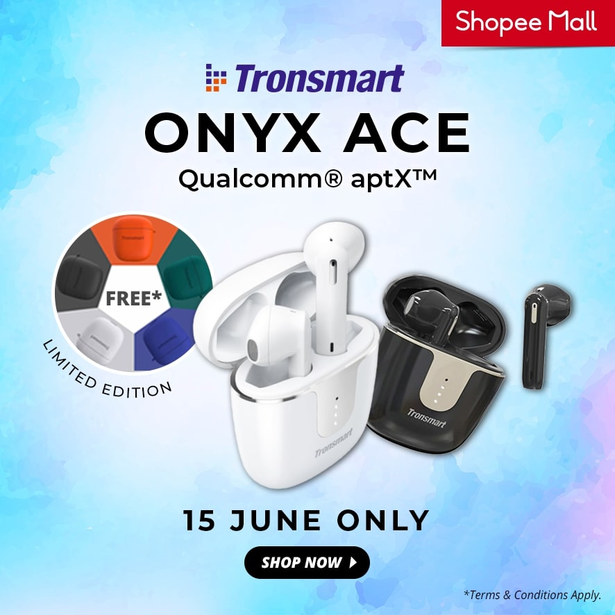 Get a Free Colourful Protective Case With Every Purchase of the Tronsmart Onyx Ace 23