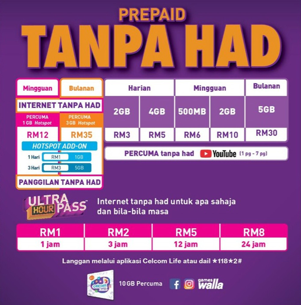 Celcom Launches Their New Xpax Truly Unlimited Prepaid Plan From RM12 22