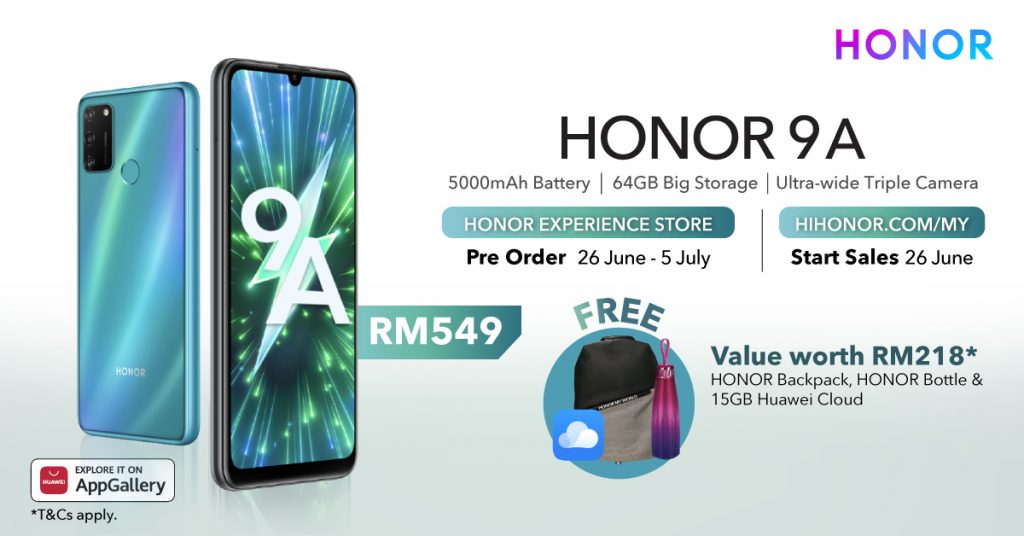 HONOR 9A With Big 5000mAh Battery Launched At RM549 23