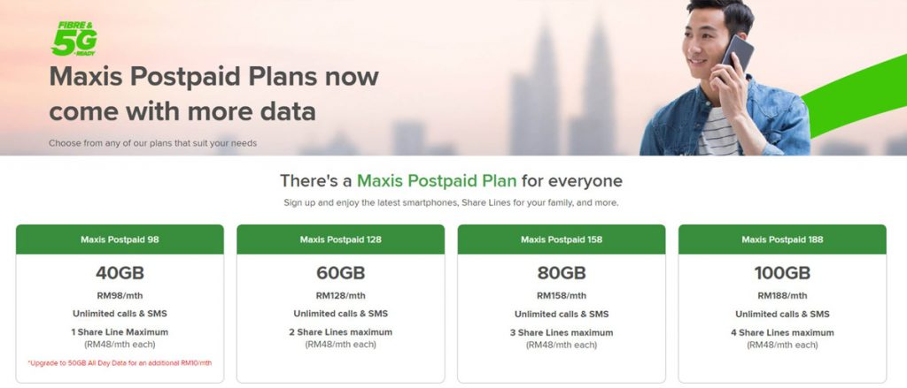 Maxis Offers RM1 Smartphone Deals And New Postpaid Plans With Up To 100GB Data 22