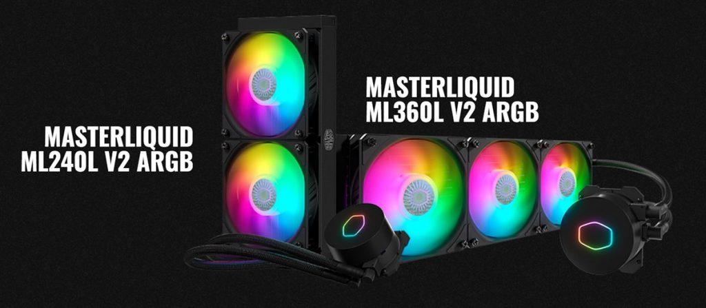 cooler master masterliquid ml240l v2 argb ml360l v2 argb