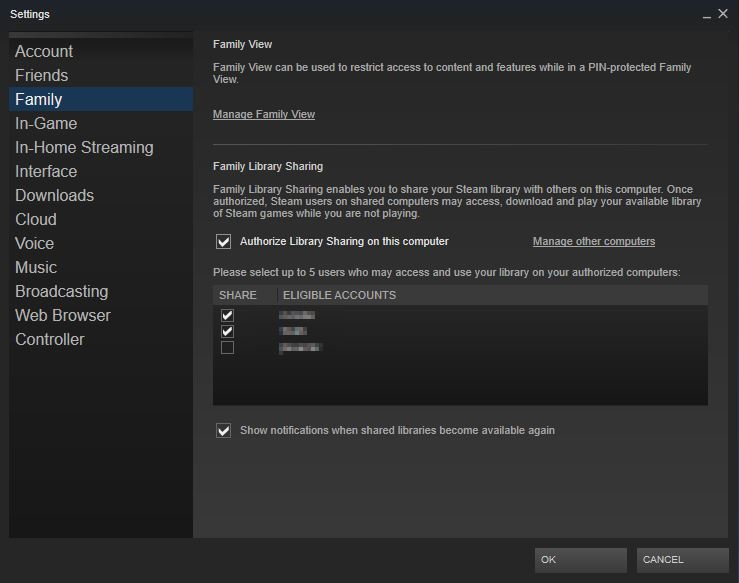 How to Setup Steam Family Library Sharing With Ease