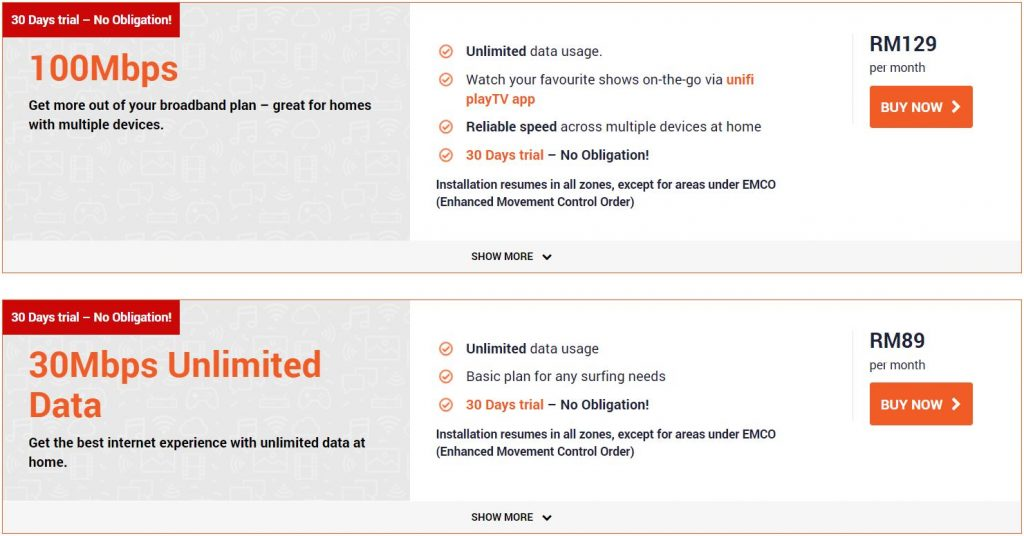 TM Clarifies on Ultra Affordable Unifi 30Mbps RM39 Per Month Offering