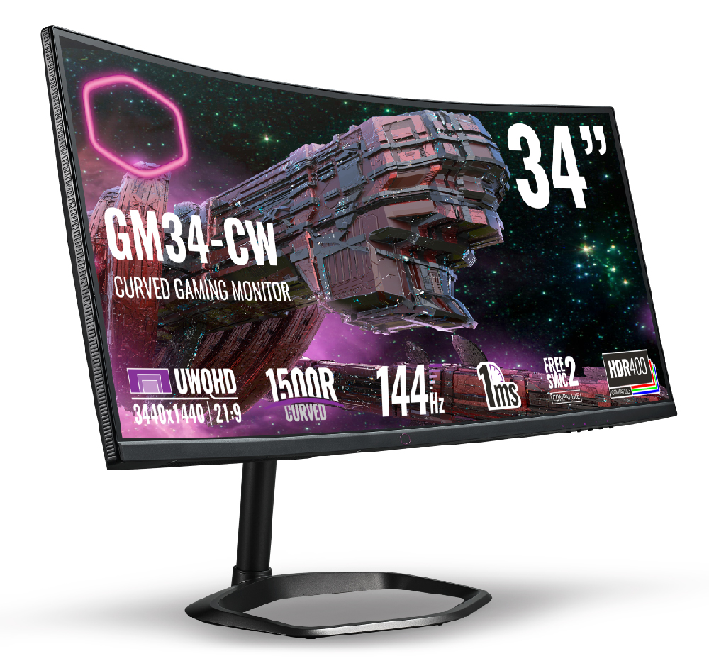 Cooler Master GM27-CF & GM34-CW Gaming Monitors Now Available From RM1,369 34