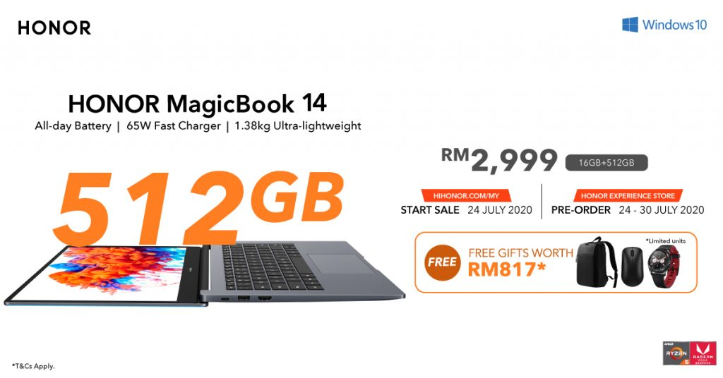 HONOR MagicBook 14 Upgraded Storage