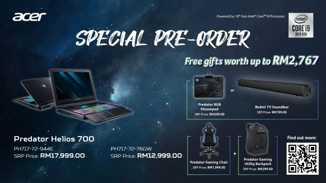 New Acer Predator Helios 700 and Helios 300 Are Coming to Malaysia