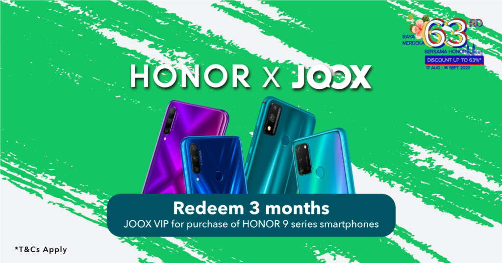 [Update] HONOR Malaysia Teams Up With JOOX 21