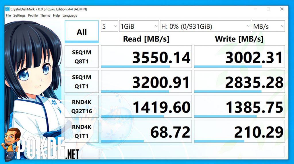 Kingston KC2500 PCIe NVMe Review CrystalDiskMark