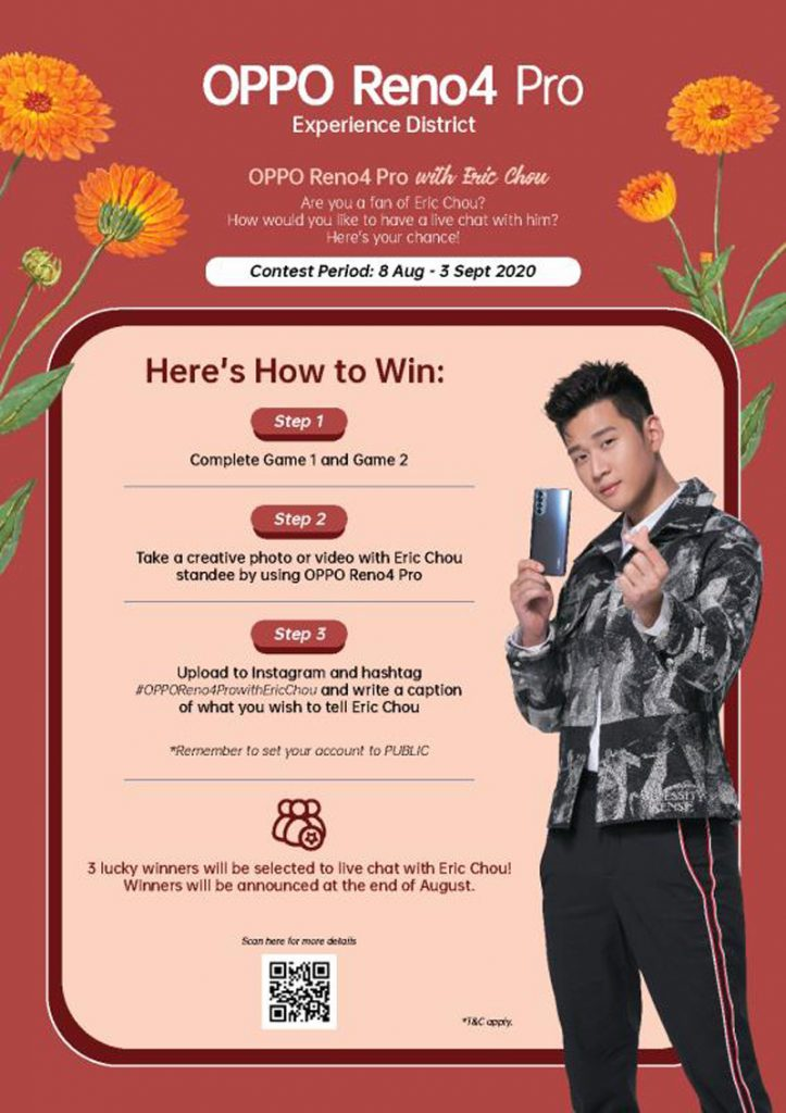 Here's How You Can Win OPPO Reno4, Enco W31 Plus The Chance To Meet Eric Chou 19