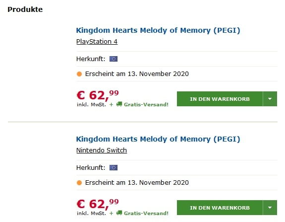 Kingdom Hearts Memory of Melody Release Date May Have Been Leaked