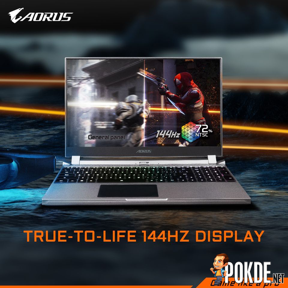AORUS 15P 2 144HZ refresh rate