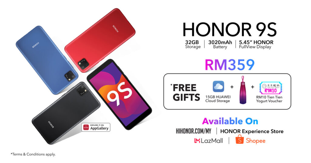 HONOR 9S Budget Smartphone Launched At RM359 22