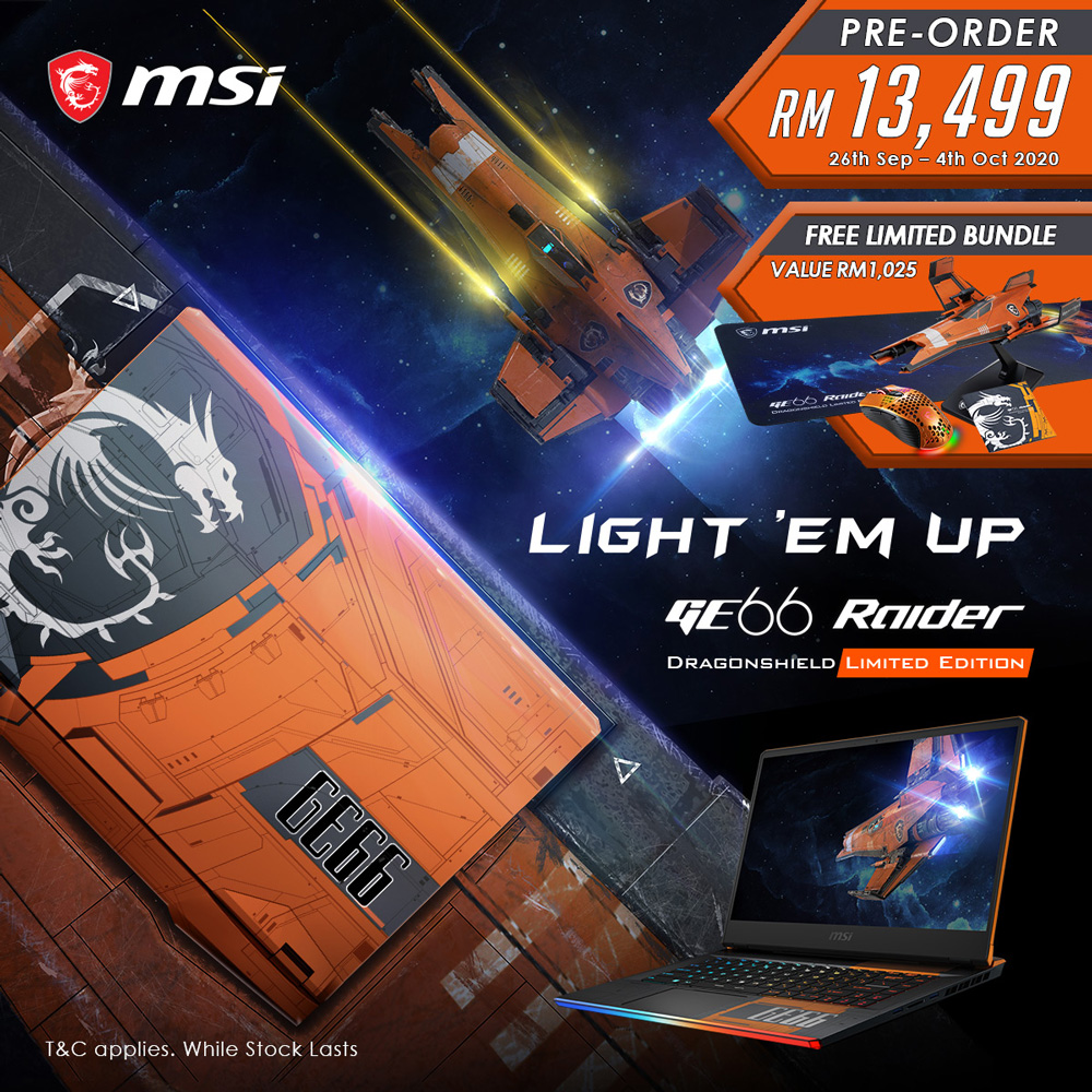 MSI GE66 Dragonshield Limited Edition Pre-order Now Open At RM13,499 27