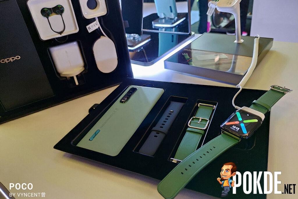 OPPO Watch Find X2 Pro Green Vegan Leather set