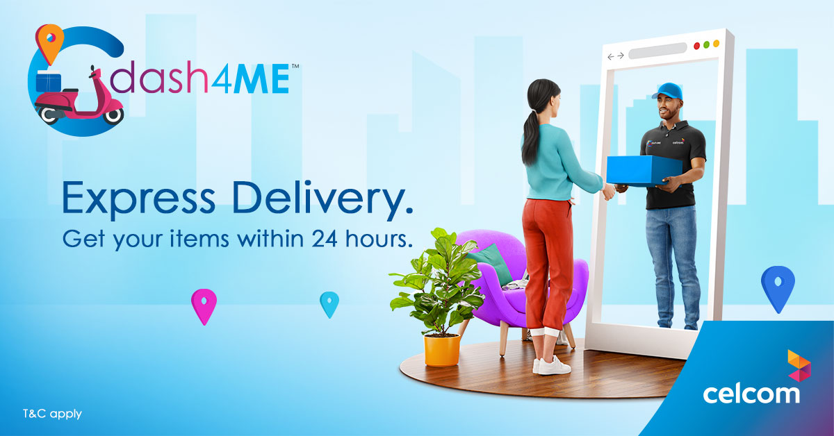 Celcom Introduces dash4ME 24-hour Express Delivery Service 26