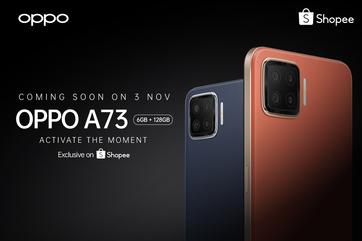 OPPO A73 Coming This 3 November Exclusively On Shopee 22